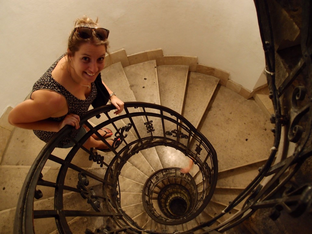 Spiral staircase, St Stephen's Cathedral, Budapest