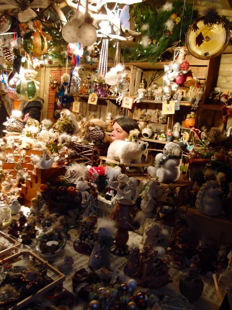 Christmas market stall, Bruges, Belgium