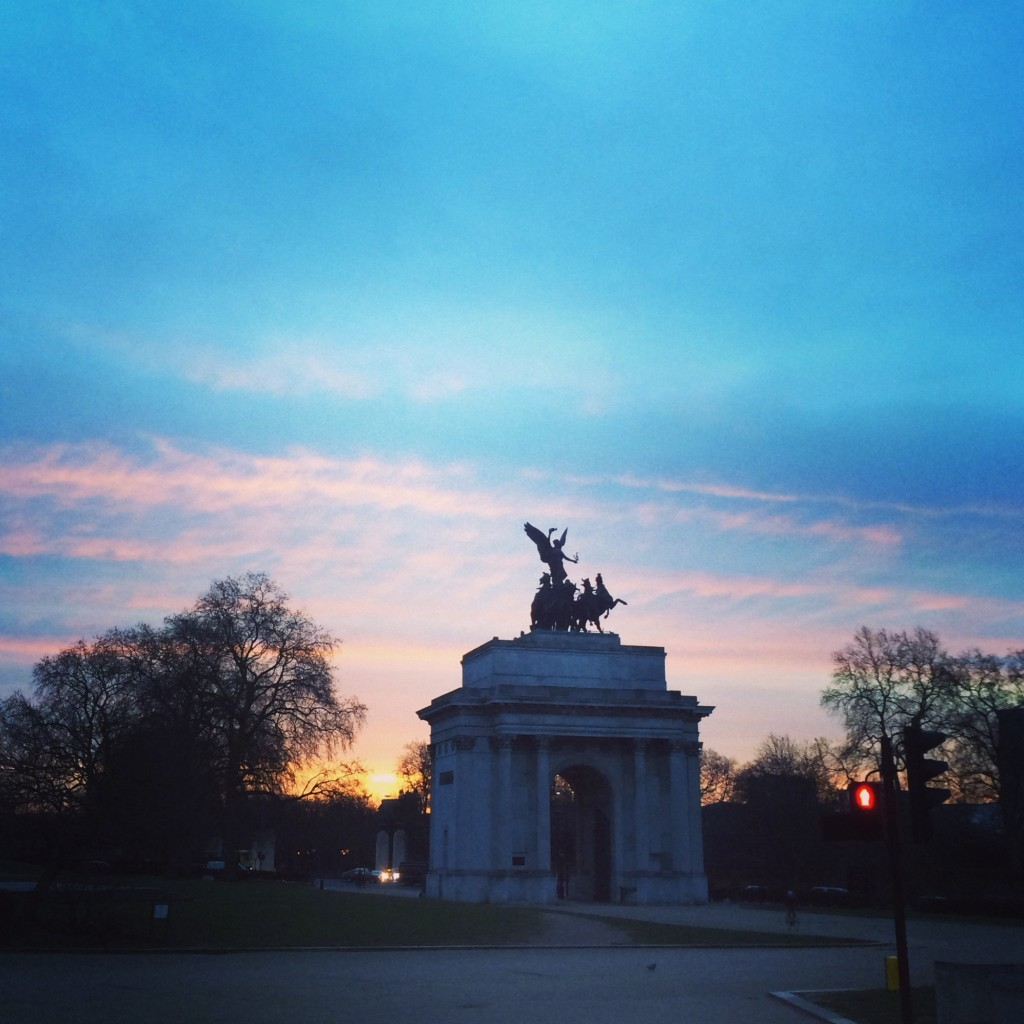Marble Arch sunrise, London