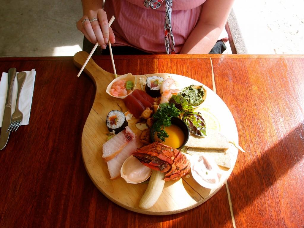 Seafood platter, Rarotonga, Cook Islands
