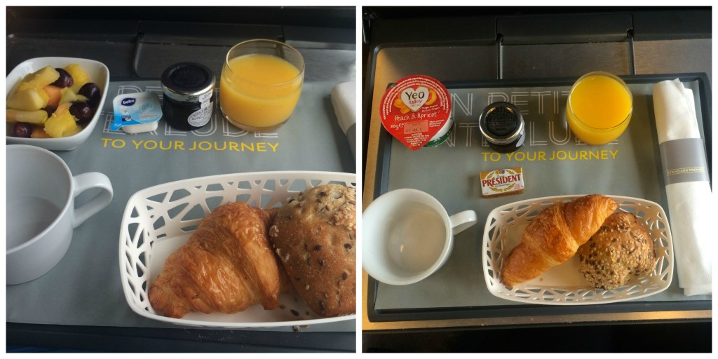 Train travel in eurostar standard premier review two for Premier cuisine