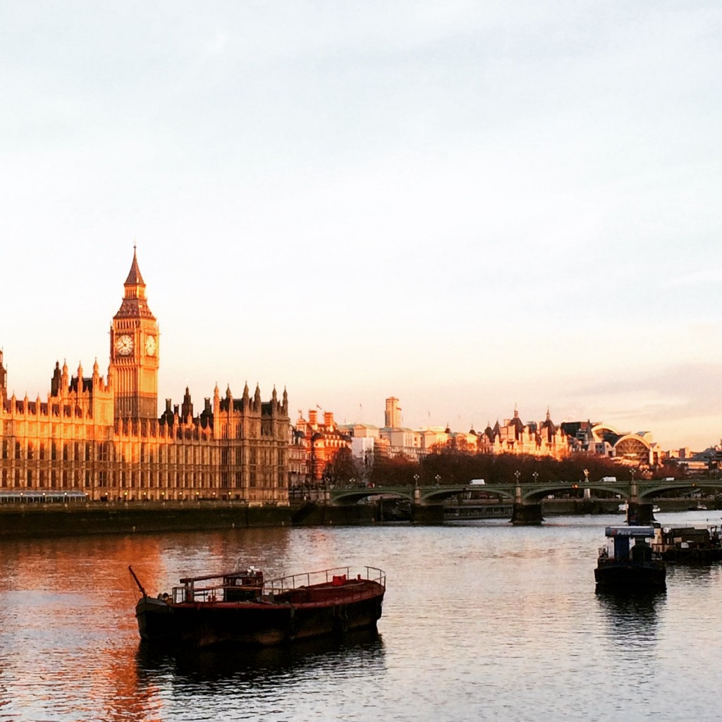 Westminster sunrise, London