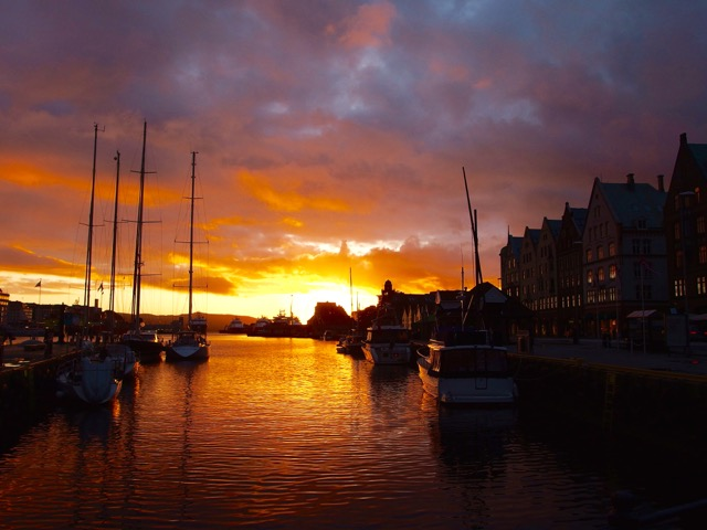 Sunset, Bergen, Norway