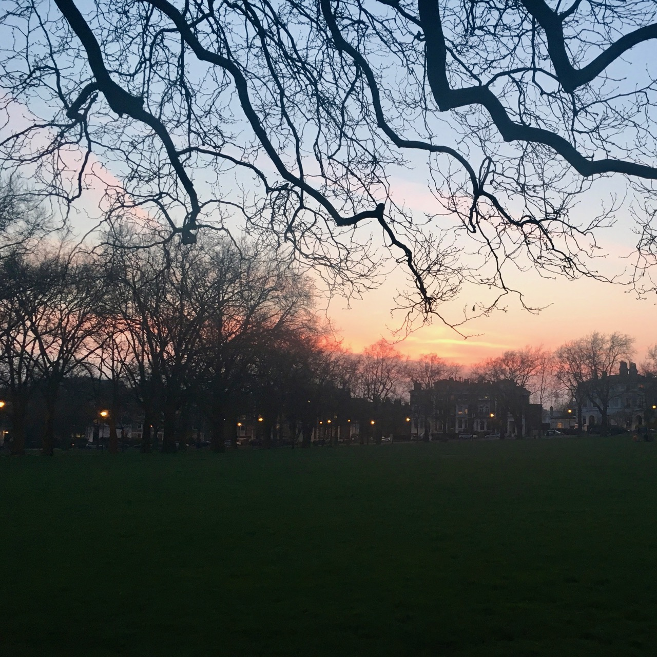Sunset, Highbury, London