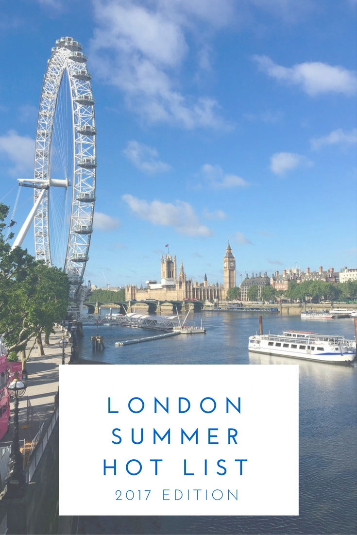 London Summer To Do List