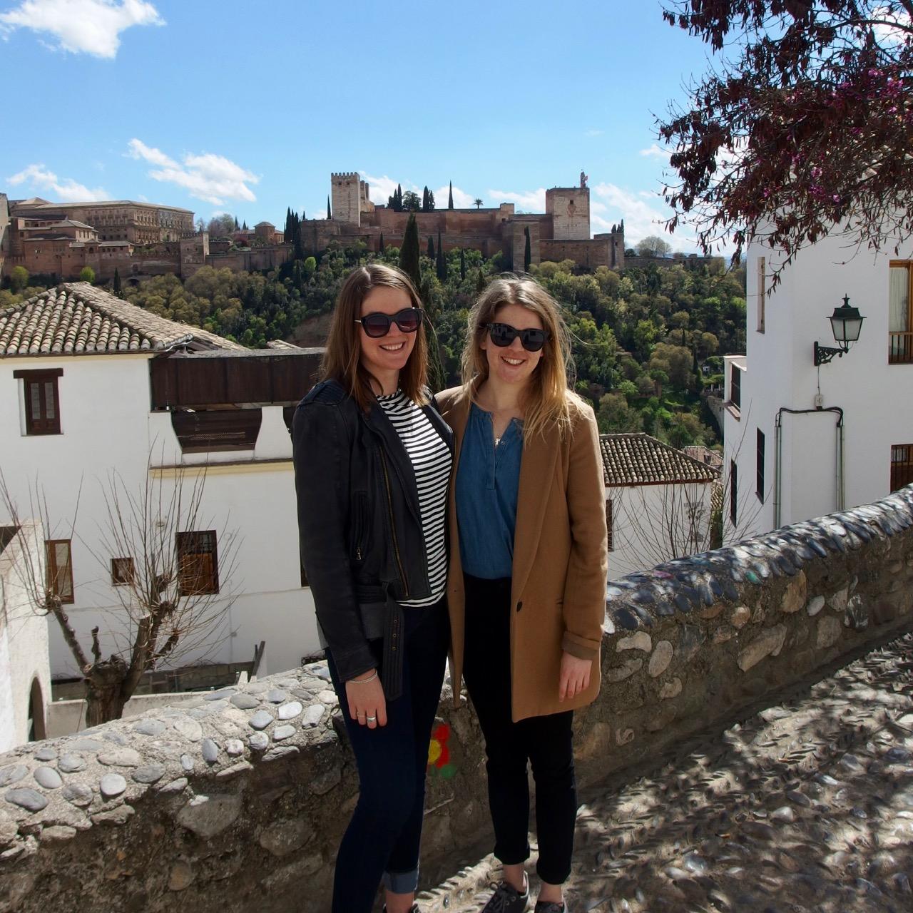 Zoe and me, Granada, Spain