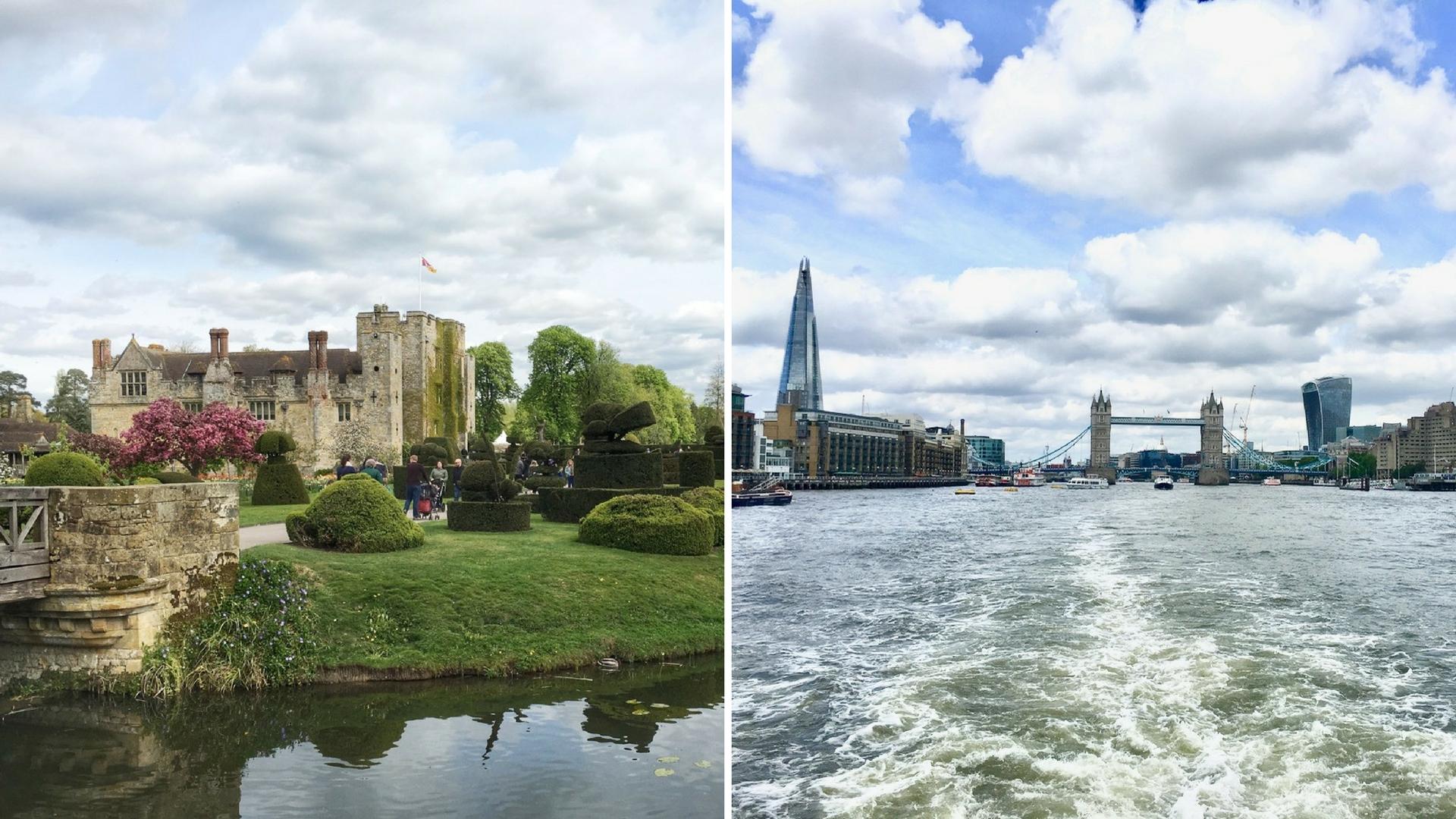 Hever Castle, Thames River, London
