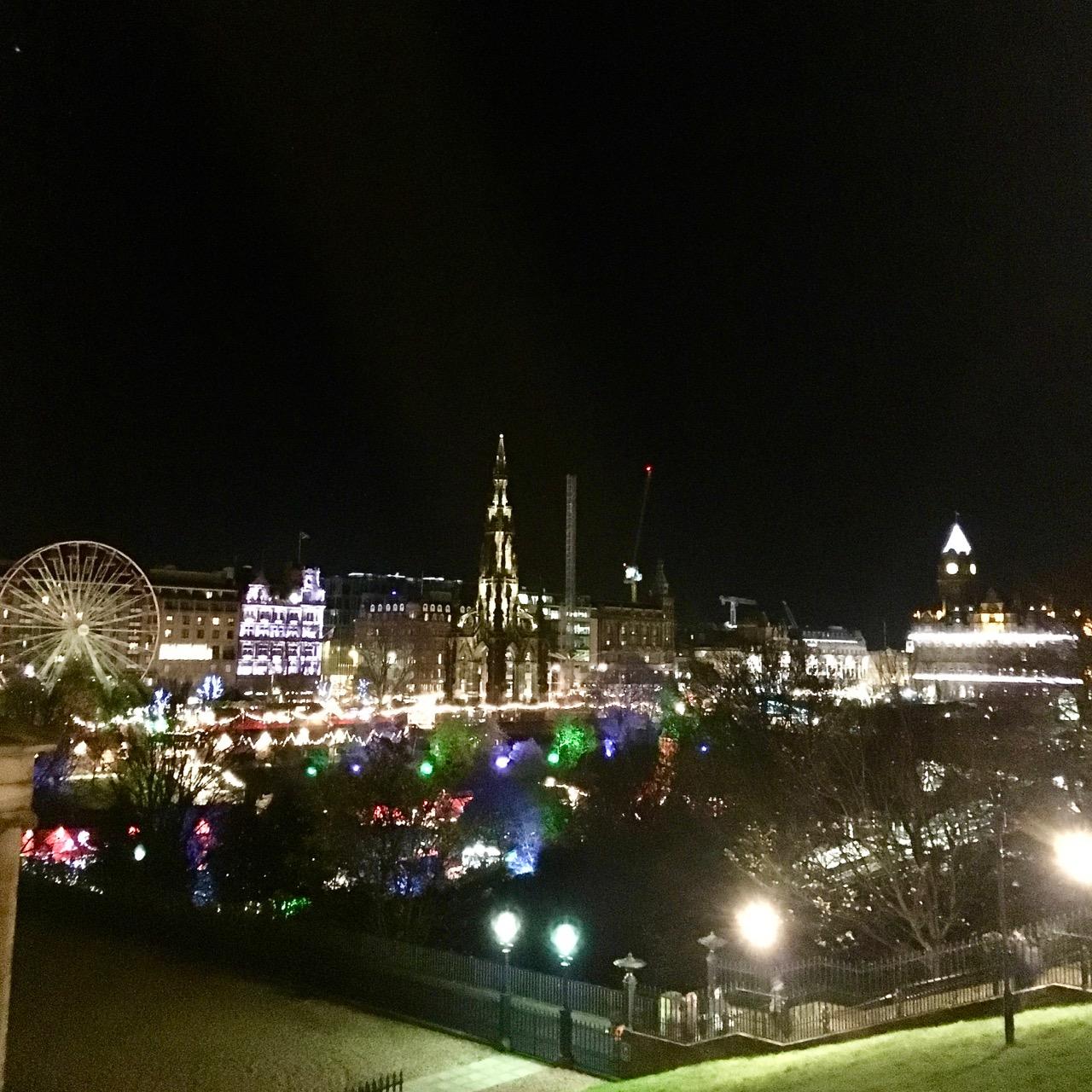 Christmas Lights, Edinburgh, Scotland