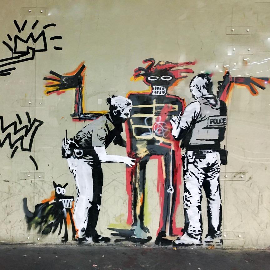 Banksy and Basquiat street art, London