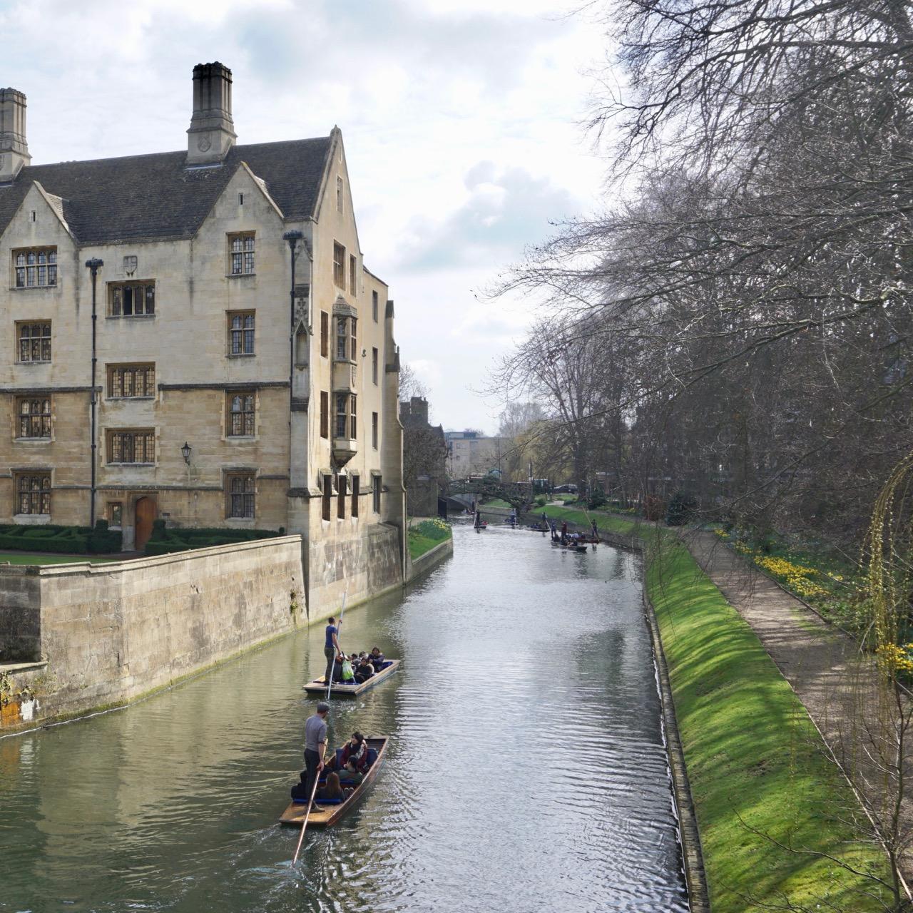 Punting, Cambridge, England