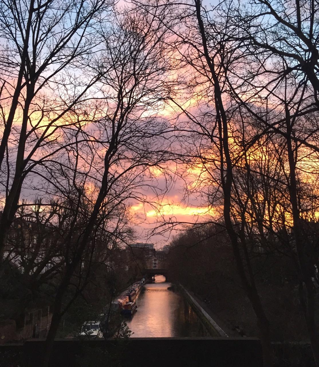 Sunrise, Canal, London