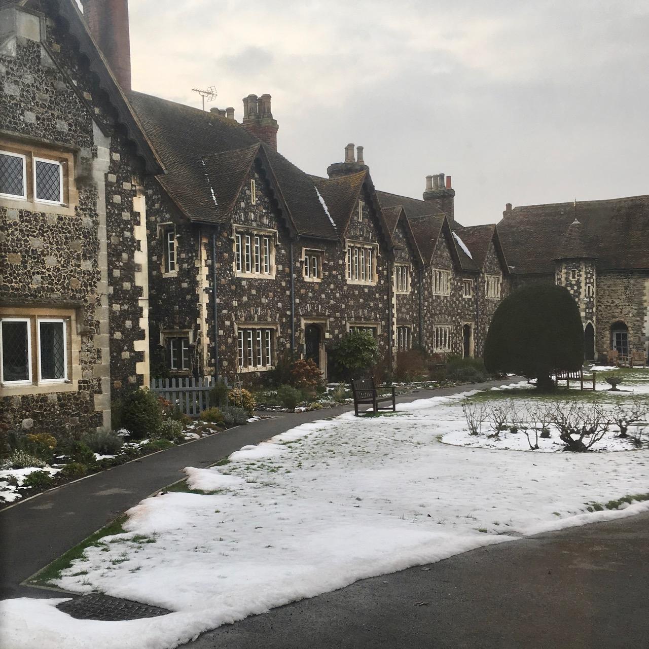 Snow, Cambridge, England