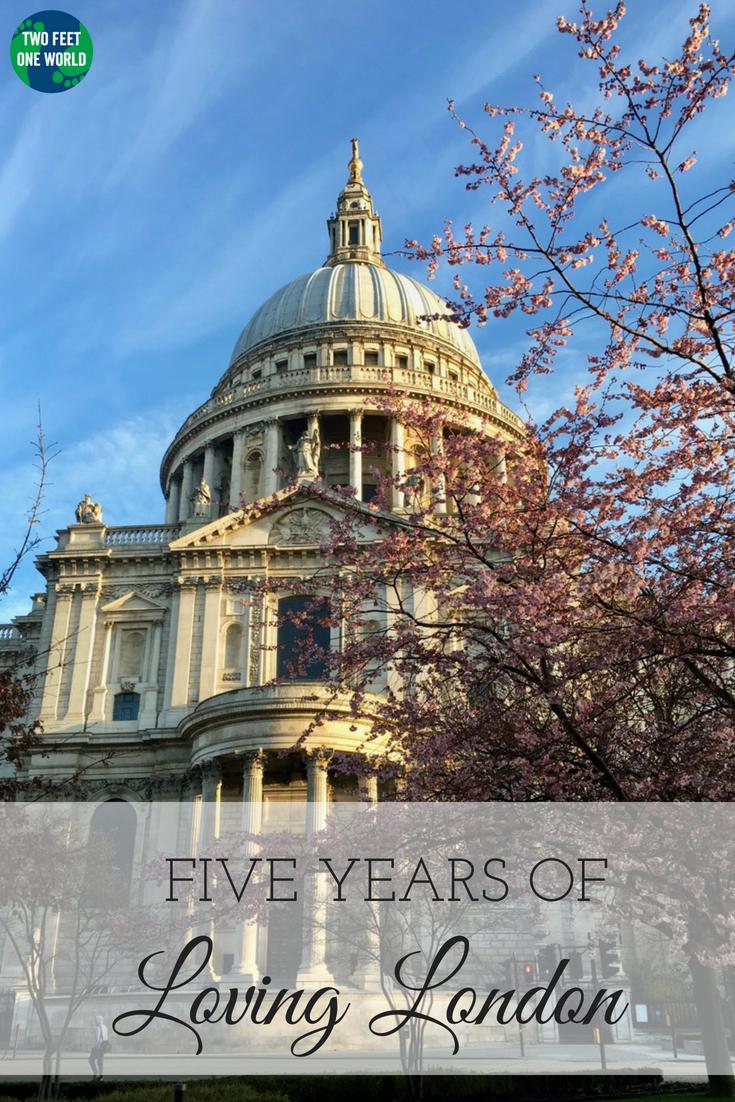 5 years of loving london