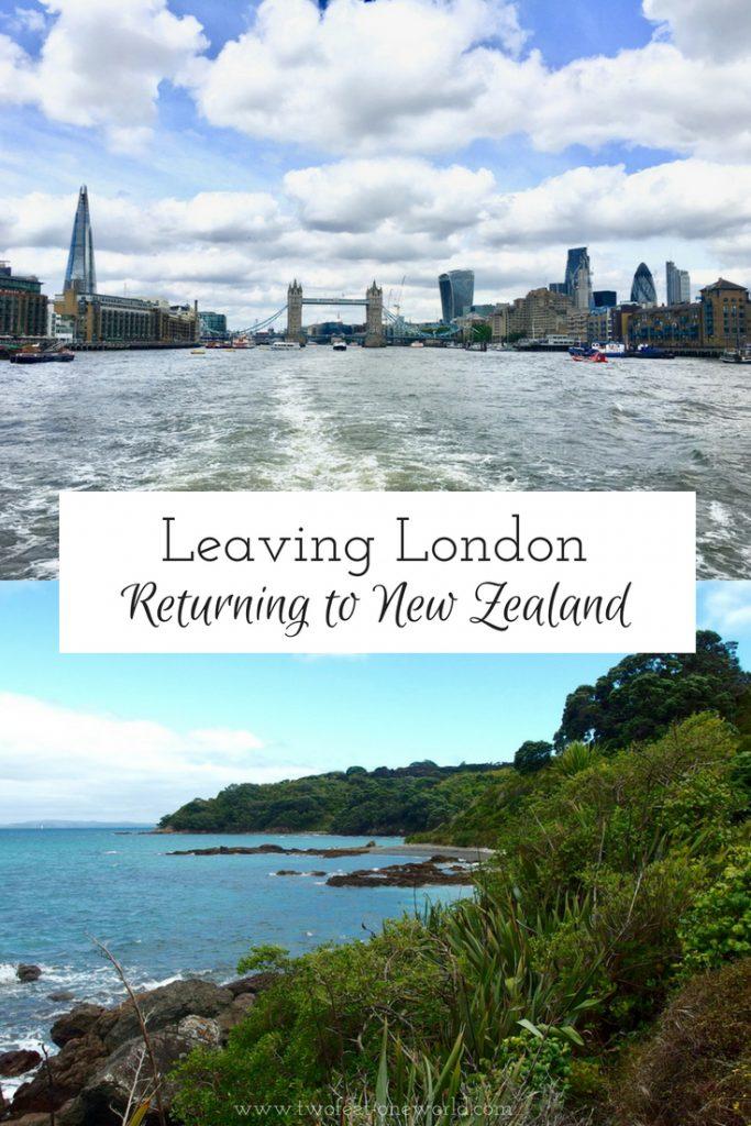 Leaving London Returning NZ